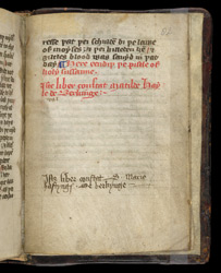 Ownership Inscriptions, In A Middle English Miscellany